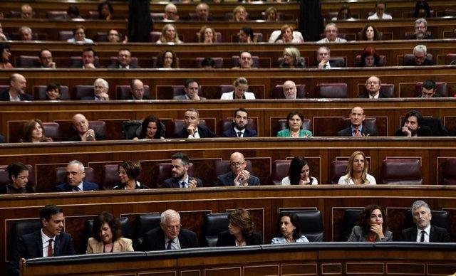 Hemiciclo del Congreso de los Diputados en la XIII Legislatura