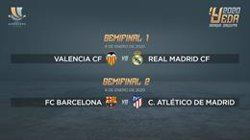València-Reial Madrid i Barcelona-Atlètic, semifinals de la Supercopa d'Aràbia (RFEF)