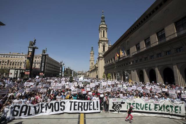 Manifestación de Teruel Existe.