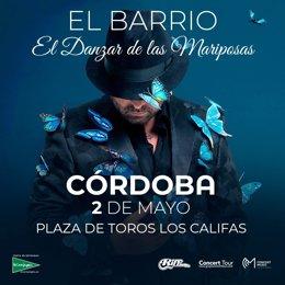 Cartel del concierto de El Barrio en Córdoba
