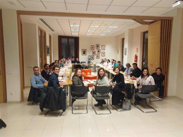 La comisión ejecutiva del PSIB se ha reunido este lunes en la sede de la formación en Palma.