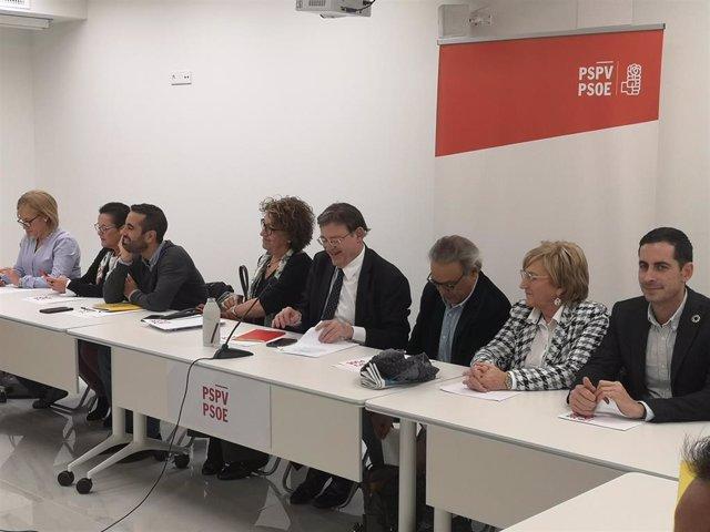Reunión de la Comisión Ejecutiva Nacional del PSPV