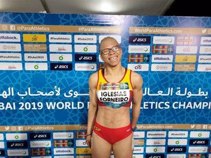 Adiaratou Iglesias se cuelga la plata en los 100 metros T12 en el Mundial de Dubái
