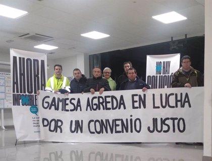 El comité de empresa de Siemens Gamesa en Ágreda (Soria) pone fin a 74 horas de encierro