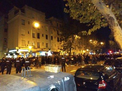 Manifestación con motivo del XII del asesinato de Carlos Palomino al grito de 'Madrid será la tumba del fascismo'