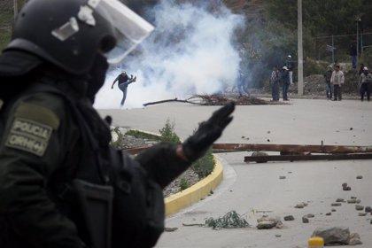 Queman y saquean la sede central de la Policía en El Alto, Bolivia
