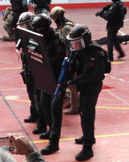 La Policia Foral participa en la I Convencion Nacional de Sanidad Táctica