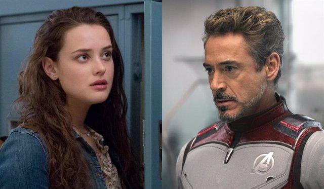 Katherine Langford (Por 13 razones) y  Robert Downey Jr como Ironman