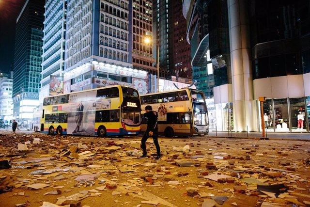 Hong Kong tras las manifestaciones del lunes en el distrito centro
