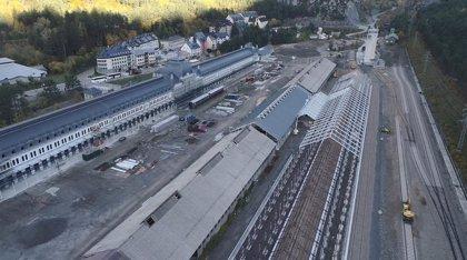 Acciona y Avintia Construcción concluyen la obra civil de la nueva playa de vías de la Estación de Canfranc
