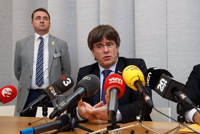 15 octubre del 2019, Blgica: Carles Puigdemont, expresident del Govern de Catalunya. Foto: Kurt Desplenter/*BELGA/*dpa