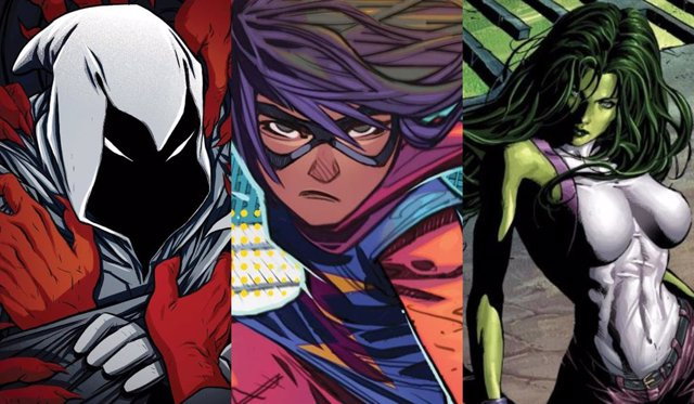 Los personajes de Marvel Moon Knight, She-Hulk y Ms. Marvel tendrán series en Disney+