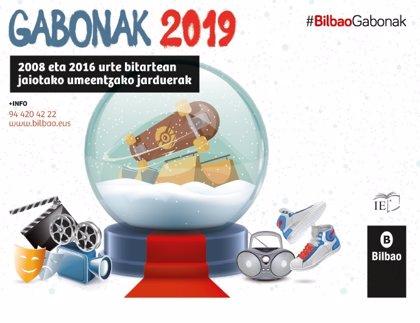 El Ayuntamiento de Bilbao oferta más de 1.500 plazas de ocio educativo para menores de 3 a 13 años en Navidad