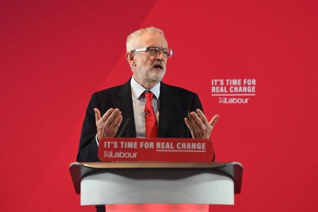 Jeremy Corbyn, en un acto en la localidad de Blackpool