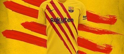 El Barça lanza una camiseta con la 'Senyera' en homenaje a sus raíces