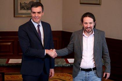 Sánchez e Iglesias firmarán en el Congreso el acuerdo para un gobierno de coalición