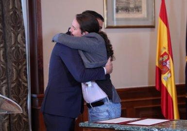 Sánchez i Iglesias arriben a un preacord de coalició que fomenta el diàleg a Catalunya dins de la Constitució (Jesús Hellín - Europa Press)
