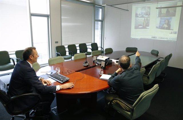 El consejero de Desarrollo Rural, Ganadería, Pesca, Alimentación y Medio Ambiente, Guillermo Blanco, participa, por videoconferencia, en la Conferencia Sectorial de Medio Ambiente