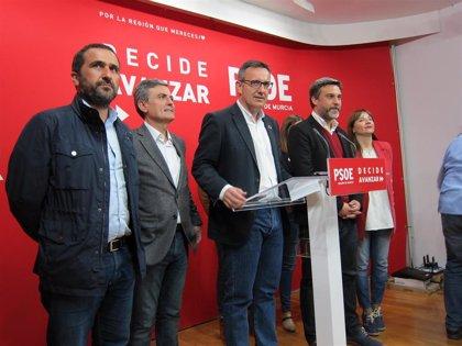"""Conesa mantiene el plazo de la moción de censura por el """"colapso"""" del Mar Menor e insiste a Cs en apostar por el cambio"""