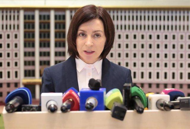 La líder del partido proeuropeo moldavo ACUM, Maia Sandu