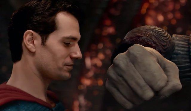 Superman contra Steppenwolf en Liga de la Justicia