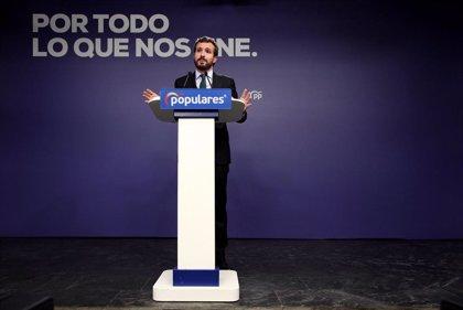 """Casado advierte a Sánchez de que cierra la puerta a """"cualquier colaboración"""" con el PP tras su pacto con Podemos"""