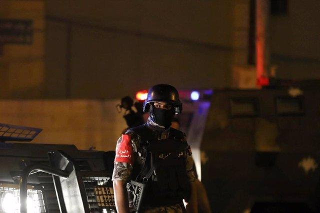 Agente de Policía en la Embajada de Israel en Jordania