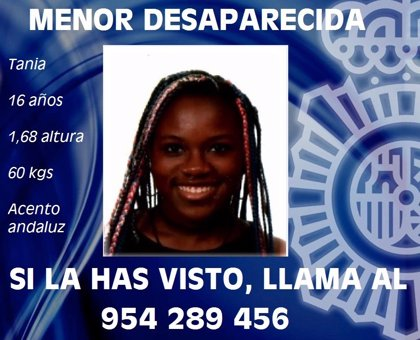Piden colaboración ciudadana para localizar a una menor de 16 años desaparecida en Sevilla capital