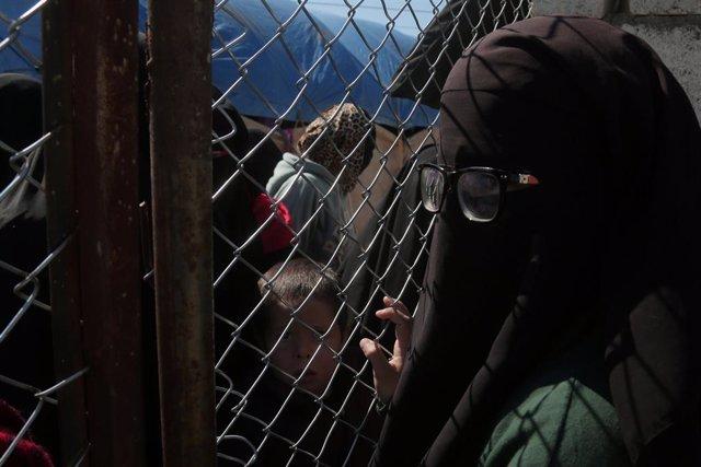 Deslpaçats al campo d'Al-Hawl, Síria.