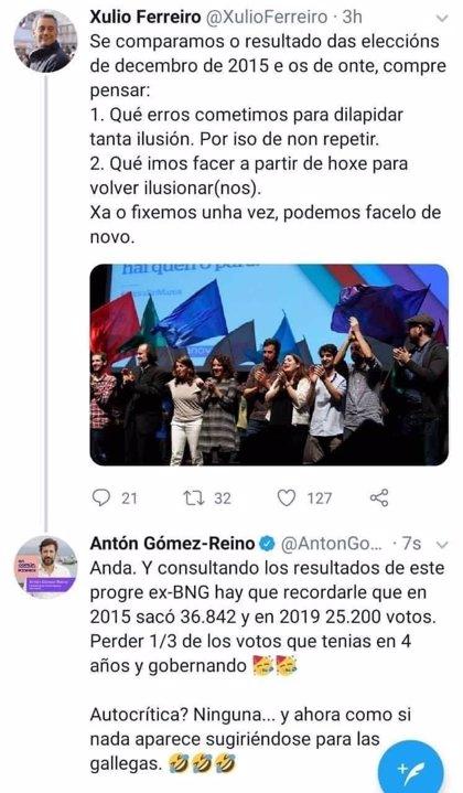 Denuncian el hackeo de la cuenta de Twitter del líder de Podemos Galicia tras publicar un mensaje contra Xulio Ferreiro