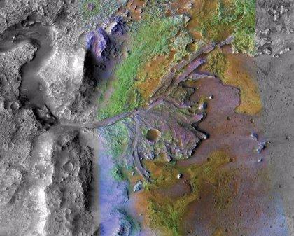 Un mineral eleva la posibilidad de biofirmas en el destino de Mars 2020