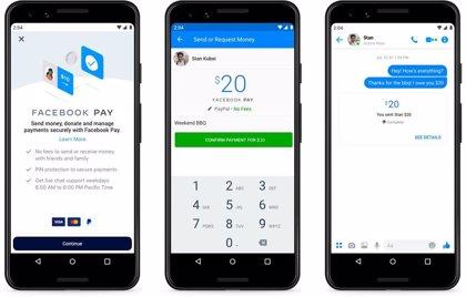 EEUU.- Facebook anuncia Facebook Pay para realizar pagos dentro de sus aplicaciones