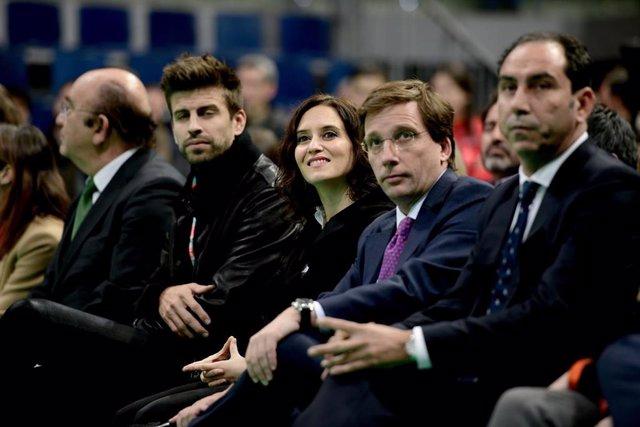 Ayuso y Almeida en la presentación de la Copa Davis