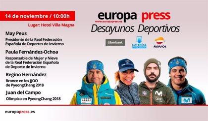 Peus, Paula Fernández-Ochoa, Regino Hernández y Del Campo hablan de Deportes de Invierno en los Desayunos de EP
