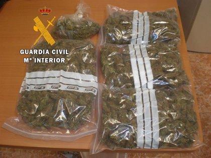 Dos detenidos en sendas actuaciones contra el tráfico de drogas en Cáceres
