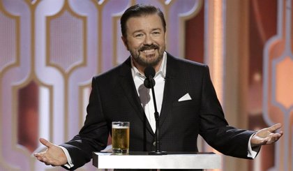 Ricky Gervais presentará los Globos de Oro por quinta vez
