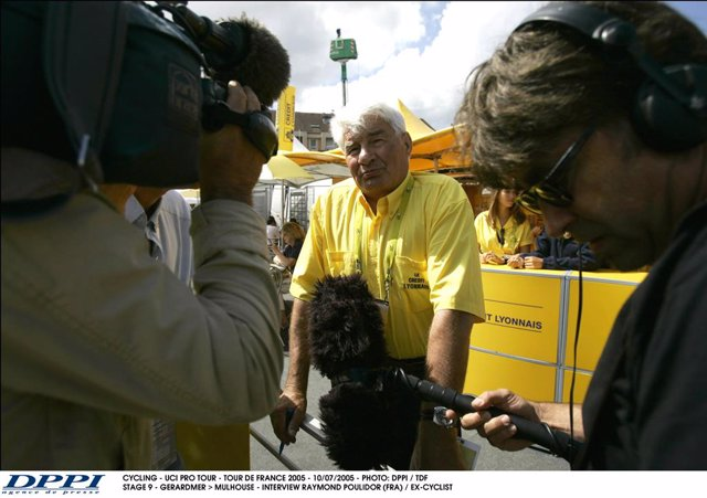 Raymond Poulidor, durant el Tour de Francia 2005.
