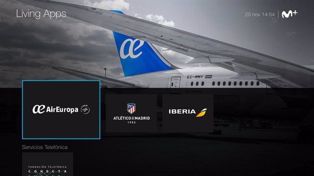 Movistar Living Apps con las aplicaciones de Air Europa, Atlético de Madrid e Iberia