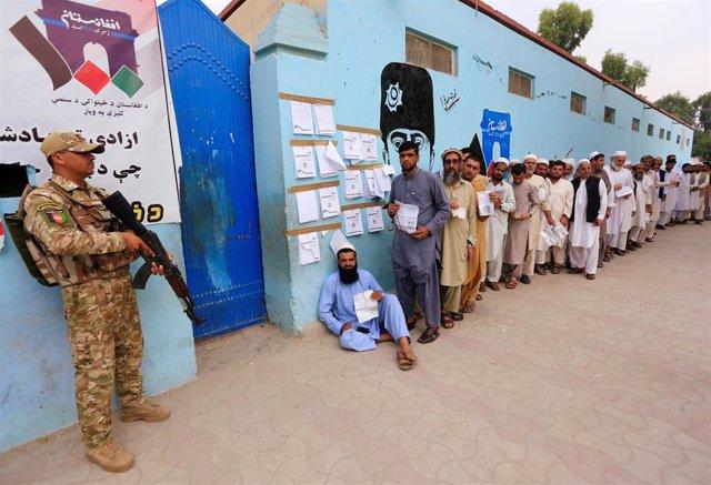 Colegio electoral en Jalalabad, Afganistán