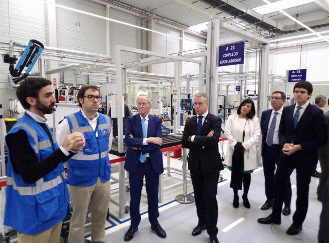 El lehendakari, Iñigo Urkullu, inaugura en Derio la nueva planta de Externals de ITP Aero