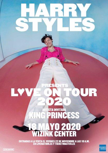 Harry Styles anuncia concierto en el WiZink Center de Madrid el 18 de mayo de 2020