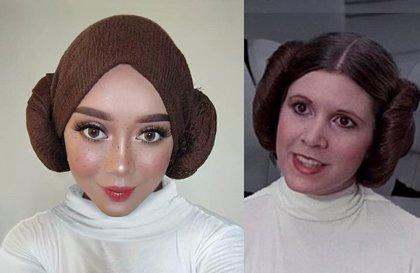 Esta artista del maquillaje usa su hijab para convertirse en personajes de la cultura pop