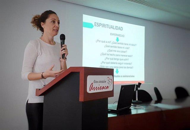 Eva Avilés, en un momento de su intervención