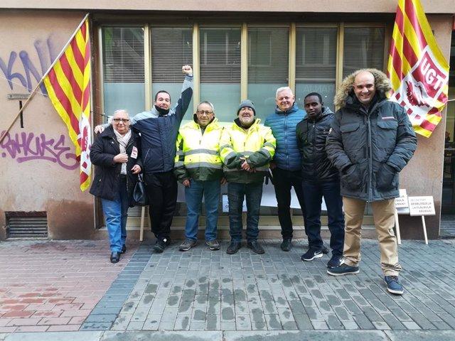 Treballadors del servei de recollida d'escombraries de la comarca de la Noguera.