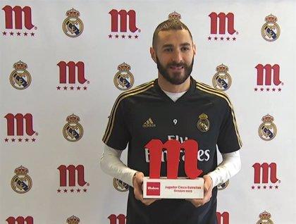 """Benzema: """"Me siento muy feliz, este premio me da más confianza"""""""