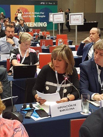 Núria Marín (Diputación de Barcelona) destaca en Durban el rol de municipios y regiones para implantar los ODS