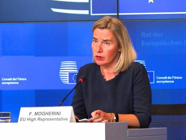La Alta Representante de Política Exterior de la UE, Federica Mogherini