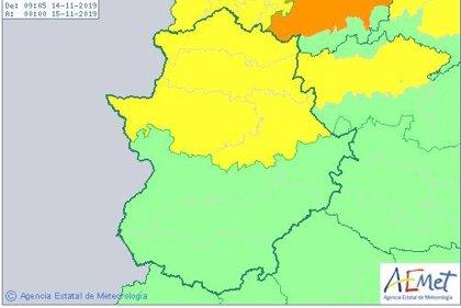 La provincia de Cáceres se encuentra este jueves en alerta amarilla por viento