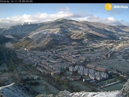 Cinco puertos con cadenas para circular en La Rioja por la presencia de nieve en la calzada