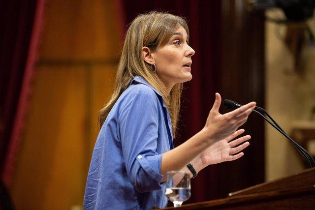 La presidenta de CatECP (Catalunya En Comú Podem) , Jéssica Albiach.